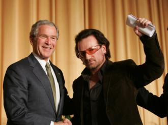 Bush and Bono--both against making the rich pay their fair share of taxes