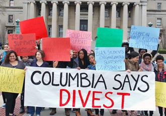 Columbia student activists unite in support of the boycott, divestment and sanctions campaign against Israel