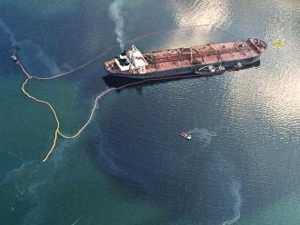 The Exxon Valdez gushed at least 11 million gallons of crude oil over 1,300 miles of unspoiled Alaskan coastline