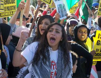 Some 5,000 people turned out in Los Angeles to demonstrate against Israel's war (David Rapkin | SW)