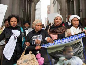 Family, friends and supporters march for justice for Mohamed Bah