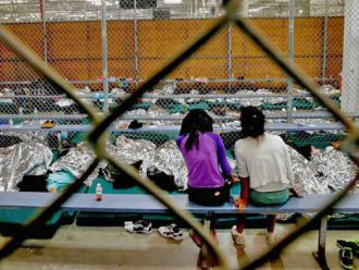 Children packed into cages at an immigration detention center in Texas