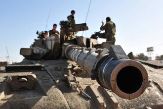 Israeli tanks mass on border before ground invasion of Gaza (Rafael Ben-Ari | Chameleons Eye)