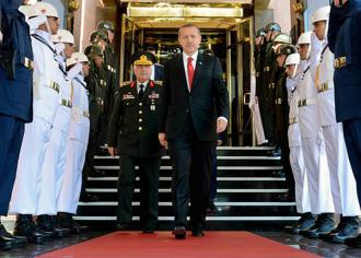 Turkey's President Recep Tayyip Erdoğan attends meetings in Istanbul after the unsuccessful coup
