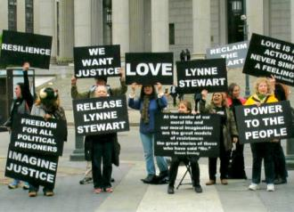 Supporters rally for Lynne Stewart's release