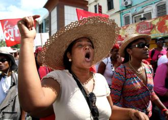 Thousands marched through the capital of Martinique in a February 13 demonstration