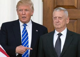 "Trump with his Defense Secretary nominee Gen. James ""Mad Dog"" Mattis"