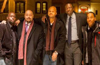 The Central Park Five attend the New York City opening of the documentary about their case