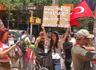 New York City activists march in solidarity with the mass protests in Turkey (Sherry Wolf | SW)