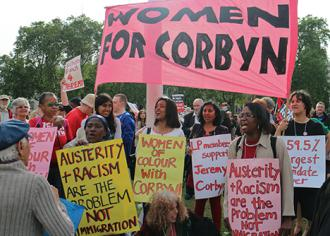 A demonstration in support of Labour Party leader Jeremy Corbyn (Steve Eason)