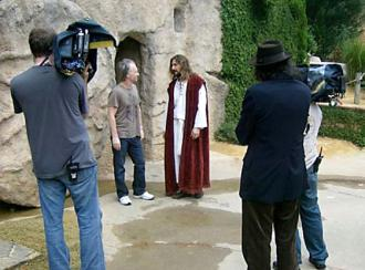 Bill Maher during the filming of Religulous