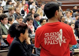 A Students for Justice in Palestine conference underway at Columbia University (Columbia SJP)