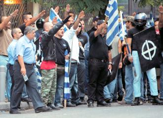 Members of the Golden Dawn demonstrate in Athens