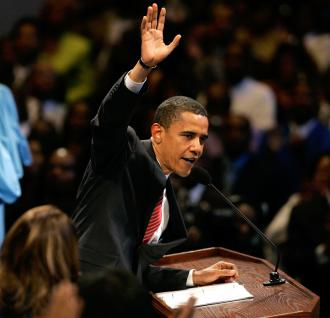 Barack Obama used his Father's Day speech at a Chicago church to rip into Black men for being irresponsibile (Brian Kersey | UPI)
