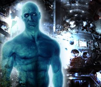 Dr. Manhattan in the film adaptation of Watchmen