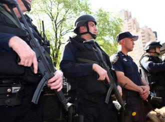 The NYPD is using federal funds to form heavily armed police units to patrol subways (Zuma)