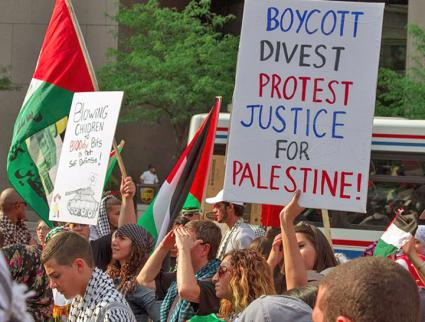 Students stand up against Israeli apartheid at Ohio State University (Ken Nurenburg | SJPOSU)