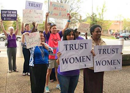 Women stand up for their reproductive rights in North Carolina (NARAL Pro-Choice North Carolina | Facebook)