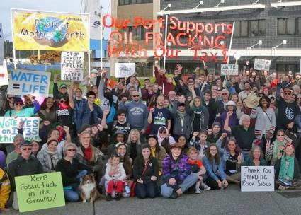 Protests against fracking have continued at the Port of Olympia (Olympia Confronting Climate Crisis)