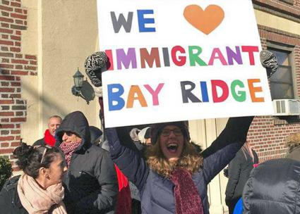 A Brooklyn neighborhood sends a message of hope and solidarity (Bay Ridge for Social Justice)