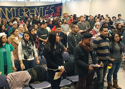 Immigrant rights activists gather at the Cosecha Movement's National Assembly in Boston (Movimiento Cosecha | Facebook)