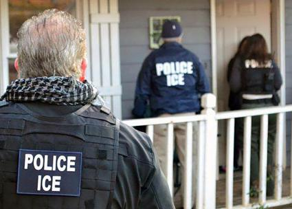 ICE carries out a home raid during a national coordinated assault on immigrant communities