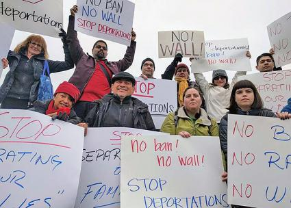 Immigrant rights activists protest Trump's deportation plans in Washington state (WA Immigrant Solidarity Network | Facebook)