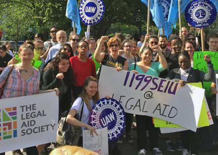 Legal Aid workers join May Day demonstrations in New York City (Association of Legal Aid Attorneys - UAW 2325)
