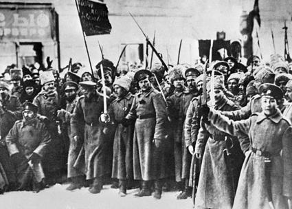 Russian soldiers celebrate the end of Tsarist rule following the February Revolution (Wikimedia Commons)