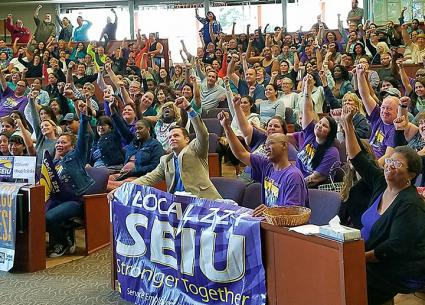 County workers in San Diego prepare for a strike (SEIU Local 221 | Facebook)