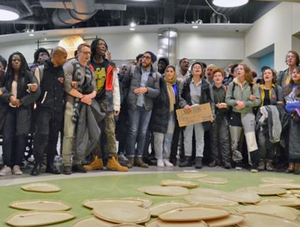 Students at the University of Wisconsin-Madison protest an announced new meal plan (Sylvia Johnson)