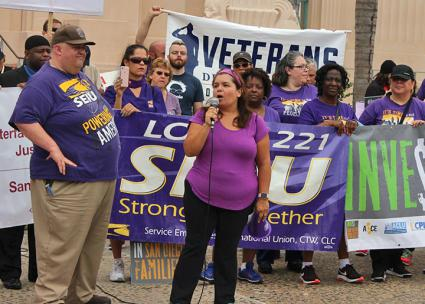 San Diego County workers protest for dignity on the job (SEIU Local 221 | Facebook)