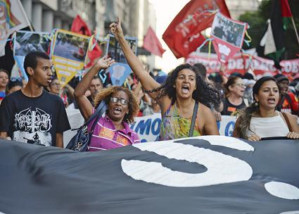 Public-sector employees march against austerity in Rio de Janeiro (Fernando Frazão | flickr)