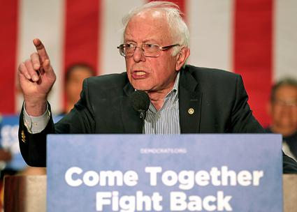 "Bernie Sanders speaks on the Democratic Party's ""Come Together, Fight Back"" tour (Gage Skidmore 