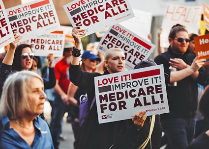 Taking to the streets for single-payer health care in Los Angeles (Molly Adams | flickr)