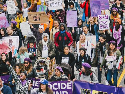 Protesters take to the streets of Los Angeles on International Women's Day (Molly Adams | flickr)