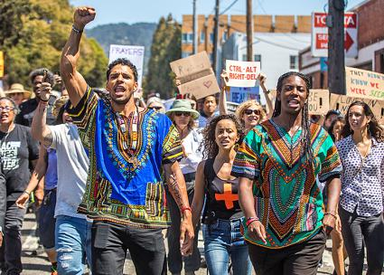 Thousands march against racism in Berkeley, California (Thomas Hawk | flickr)