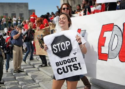 Standing up against budget cuts in Louisiana (Rande Archer | flickr)
