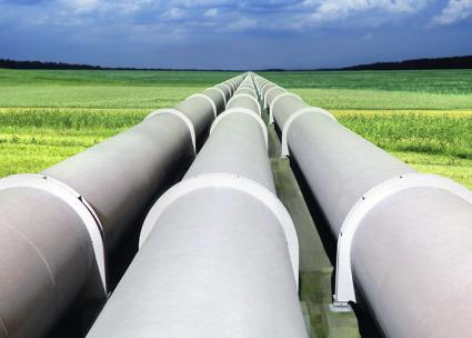 Oil pipelines sweep across the Plains states