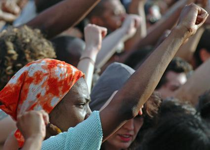 Protesting in New York City's Union Square against the acquittal of Trayvon Martin's murderer (Michael Fleshman)