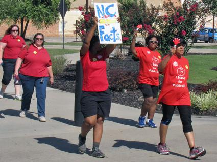 Teachers demand higher pay, more school funding