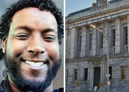 Left: Abdi Ali; right: the Portland court building where he was arrested