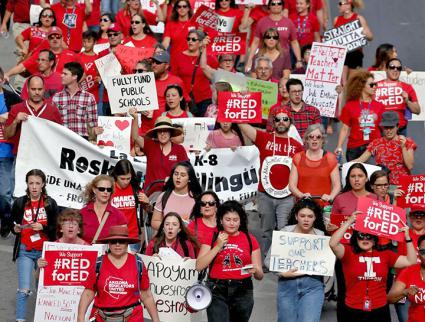 Arizona teachers on the march for their demands