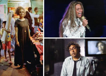 Clockwise from left: Arundhati Roy, Beyonce and Hari Kondabolu