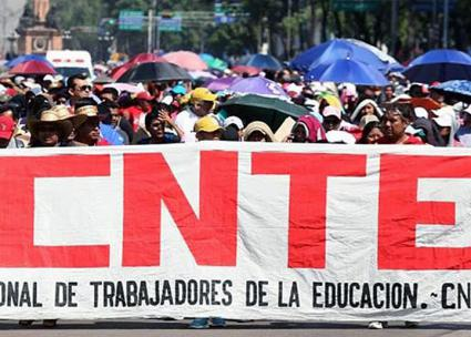 Teachers march in Mexico City against the Peña Nieto government's austerity measures (Coordinadora Nacional de Trabajadores de la Educacion (CNTE))
