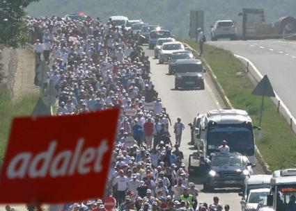 A mass march makes its way across Turkey to defy Erdoğan's authoritarian rule