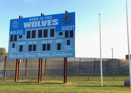 A new scoreboard for a new season at South Burlington High School
