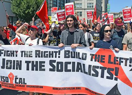 Socialists march against hate in San Francisco (Josh On | SW)