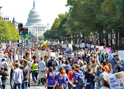 More than 200,000 people raised their voices for LGBT equality (Kit Lyons)