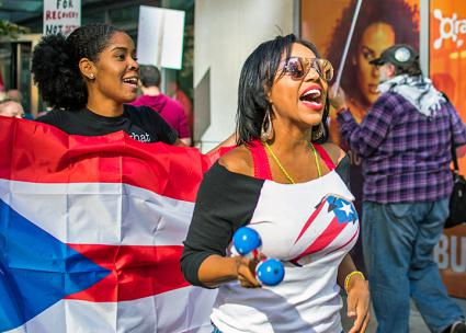 Showing solidarity with Puerto Rico in Boston (Eric Sangurima)